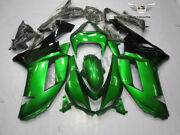 Ms Injection Mold Glossy Green Fairing Fit For Kawasaki 2007 2008 Zx6r 636 Y033