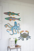 Gwg Outlet Hand Hammered Recycled Metal Octopus Wall Hanging A5650