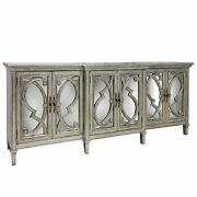 Gwg Outlet Amalfi 6 Door Cabinet With Grill Fronting Mirrored Doors