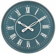 Cbk Blue Wall Clock With Ornate Hands 168458