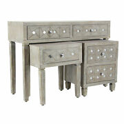 Zimlay Rustic 3-piece Wood And Iron Console Table And Side Table Set 39872