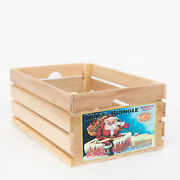 At Home On Main Vintage-style Wood Fruit Crate With Natural Ahomwhc-kknat-l