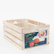 At Home On Main Vintage-style Wood Fruit Crate With White Ahomwhc-seagreappwh-l