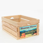 At Home On Main Vintage-style Large Wood Fruit Crate With Natural Ahomwfc-svn-l