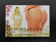 Sara Underwood 1/1 Red Butt Card 2017 Benchwarmer Dreamgirls Odds And Ends - Offer