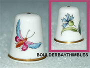 Tcc Thimble - Spode Fine China 'the Butterfly' 1993 England Htf
