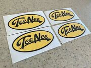 Tee Nee Vintage Boat Trailer Decals 4-pak Pick Black And Yellow Free Ship