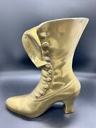 """Beautiful Vintage Brass Victorian Ladies Boot, Bookend, Vase 8.75"""" H X 7.75"""""""