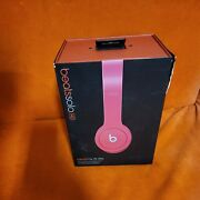 Beats By Dre Solo Hd Wired Headphones - Bright Pink In Original Box Tested