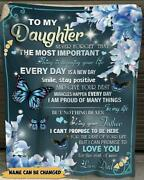 Personalized To My Daughter Butterfly Blanket For Daughter From Dad