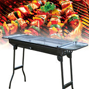 Stainless Steel Bbq Smokeless Grill Portable Folding Grill Stove Shish Kebab Us