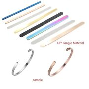 Rectangle Blank Charms Diy Open Cuff Bangle Bracelets Stainless Steel 10pcs/lot