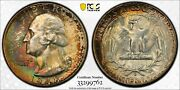 1948 D Washington Quarter Pcgs Ms67+ With Cac And Massive Eye Appeal And Toning