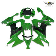 Ms Green Black Abs Injection Fairing Kit Fit For Kawasaki 2008-2010 Zx10r A015