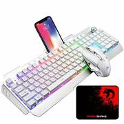 Wireless Gaming Keyboard And Mouse Combo, Rechargeable 16 Kinds Rgb Backlit Pc G