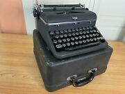 1947 Vintage Royal Quiet De Luxe Portable Typewriter Working W New Ink And Case
