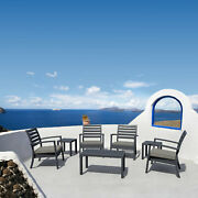 Siesta Seating Set 7 Piece With Sunfield Cushions Isp004s7-dgr-cta