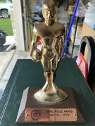 Vintage 1974 Ford Punt Pass And Kick Trophy Third Place Age 10