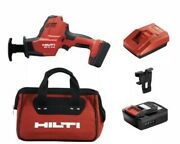 New Hilti Sr 2-a12 Reciprocating Saw Hacksaw Brushless + 1 Battery Bag + Charger