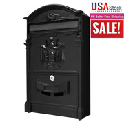 Letter Post Box Mail Large Vintage Mailbox Wall Mount Post Box Outdoor Locking