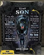 Personalized To My Son Every Day That You Are Not With Me Black Panther Blanket