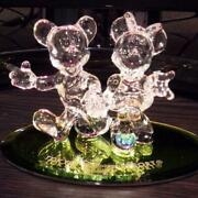 Disney Alibus Brothers Mickey And Minnie Mouse Crystal Figurine New Box