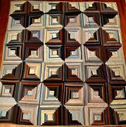 Extraordinary Sunshine And Shadow Log Cabin Quilt,provenance,exhibition,excellent