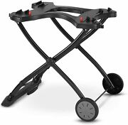Weber Q Portable Gas Propane Bbq Grill Stand Holder Carry Wheeled Cart - New