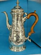 1760 George Iii Solid Silver Coffee Pot 10 Inches High 686 Grams By John Gorham