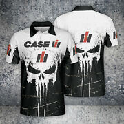 Case Ih Polo Shirt 3d Skull So Cool Tractors-top Gift For Menand039s