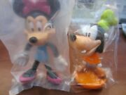 Disney Brand New Unopened Rubber Figures Goofy And Minnie