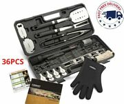 36 Pc Bbq Grill Tool Set Stainless Steel Grilling Accessories Gift Set With Case