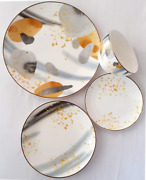 Porcelain Dinner Set 16-piece Set Plate Bowl Cup Service For 4 Gusi And Lebedi Of