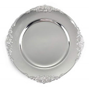 Tiger Chef Silver Charger Plates - Antique Plate Chargers For Dinner Plates - Of