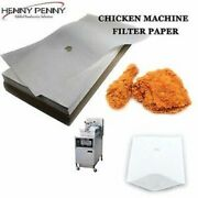 Henny Penny High Quality Chicken Machine Oil Filter Paper 100 Sheets Free Uk