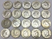 40 Silver Kennedy Half Dollars Mixed Roll 20 Coins 1965-69 10 Face Value