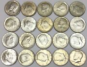 40 Silver Kennedy Half Dollars Mixed Roll 20 Coins 1965-69 10 Face Value 2