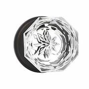 Providence Octagon Crystal Door Knob Set With 6 Pack Privacy Bed / Bath