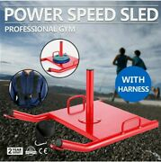 Power Speed Sled + Harness Weighted Drag Sport Crossfit Running Football Fitness