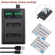 Nb-6l Nb6lh Battery Or Usb Charger For Canon Powershot D20 Sd4000 Sx530 Sx260 Hs