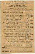 Fulton Clinical Thermometer Vintage Business Reply Postcard Brooklyn Ny Medical