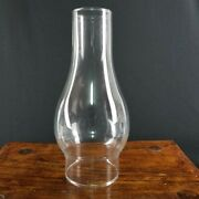 8 1/2 Tall Clear Glass Replacement Hurricane Lamp Chimney Shade 3 Fitter