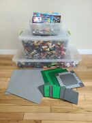 Lego Lot Of 40lbs Mixed Themes W/ Manuals And Baseplates