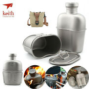 Keith Titanium Ti3060 Canteen Mess Kit Outdoor Ultralight Carrying Pouch 1.8l
