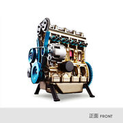 All Metal Assembly Four Cylinder Automobile Engine Model Building Block Set Toy