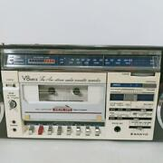 Sanyo Radio Cassette Recorder Mr-v8mkⅡboombox Used Operation Confirmed 858/mn
