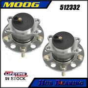 Pair Moog Rear Wheel Bearing And Hub For 2007 2008 - 2016 Jeep Compass Patriot Fwd