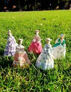 5x Royal Worcester The Fashionable Victorians Figurines Good Condition 1995's