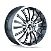 The Wheel Group 351-8709b Hype 351 Black/machined Face/machined Lip