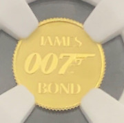 2020 Tuvalu James Bond 2 Gold Coin Ngc Ms70 commemorative Coin
